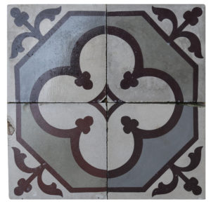 Reclaimed Patterned Encaustic Floor Tiles 3.6 m2 ( 38 sq ft)