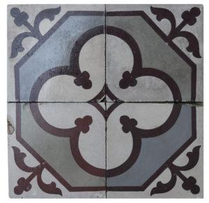 Reclaimed Patterned Encaustic Floor Tiles 3.6 m2 ( 38 sq ft)