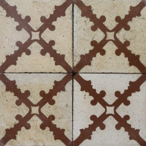 Reclaimed Patterned Encaustic Floor Tiles 19.2 m2 (206 sq ft)