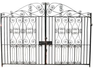 A Set of 3.5 m (11'7″) Reclaimed Wrought Iron Driveway Gates