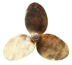 A Salvaged Bronze Boat Propeller 21″