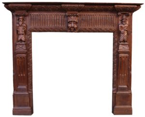 A Reclaimed 19th Century Carved Oak Fire Surround
