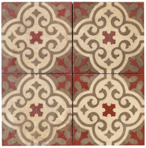 Reclaimed Patterned Encaustic Floor Tiles 4.8 m2 (51 sq ft)