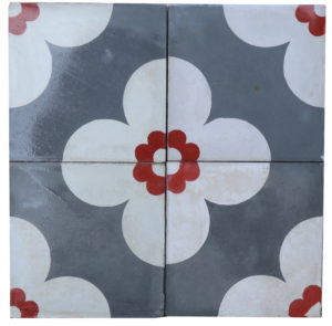 Reclaimed Patterned Encaustic Floor Tiles 4.56 m2 (49 sq ft)