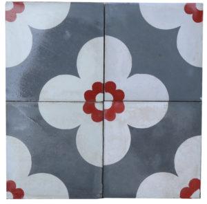 Reclaimed Patterned Encaustic Floor Tiles 4.56 m2 (49 sq ft)