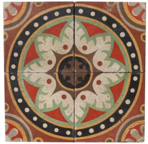 Reclaimed Patterned Encaustic Floor Tiles 3.9 m2 (42 sq ft)