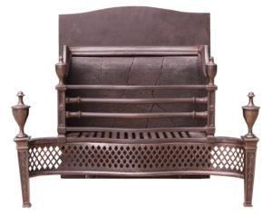 A Reclaimed Georgian Style Polished Steel Fire Grate