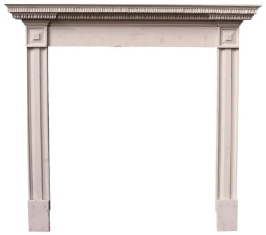 A Regency Painted Pine Fire Surround
