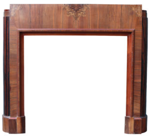 A Reclaimed English Art Deco Fire Surround