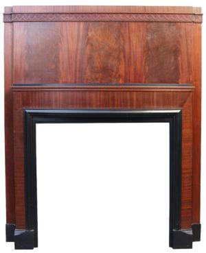An Original Art Deco Mahogany Fire Surround
