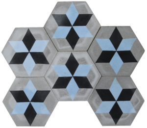 Reclaimed Hexagonal Encaustic Cement Floor or Wall Tiles 9.17 m2 (98 ft2)