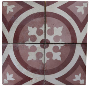 Reclaimed Patterned Encaustic Floor Tiles 2.4 m2 (25 ft2)