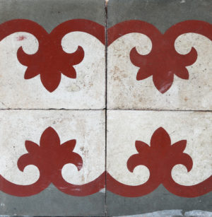 Reclaimed Patterned Encaustic Cement Floor or Wall Tiles 1.12 m2 (12 ft2)