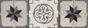 A Reclaimed Patterned Encaustic Tile Panel