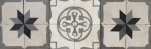 A Reclaimed Patterned Encaustic Tile Panel