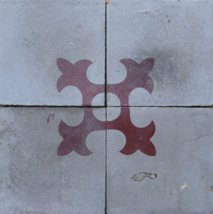 Reclaimed Patterned Encaustic Floor Tiles 1.12 m2 (12 sq ft)