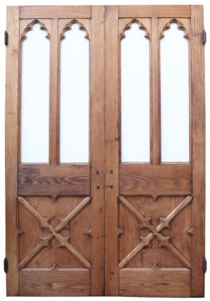 A Set of Antique Oak Church Doors