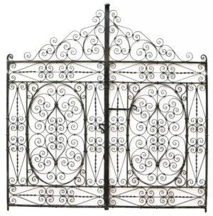 A Set of Antique Wrought Iron Garden Gates