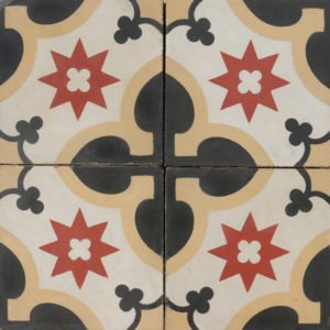 Reclaimed Patterned Encaustic Tiles 0.8 m2 (8.6 sq ft)