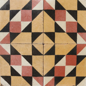 Reclaimed Patterned Encaustic Cement Floor or Wall Tiles 1.6 m2 (17.2 ft2)