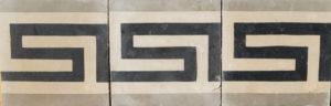 Reclaimed Encaustic Cement Floor or Wall Border Tiles
