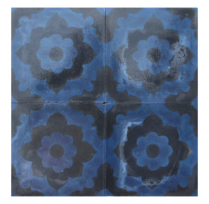 Reclaimed Patterned Encaustic Cement Floor or Wall Tiles 6.8 m2 (73 ft2)