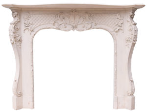 An Antique Rococo Style Fire Surround