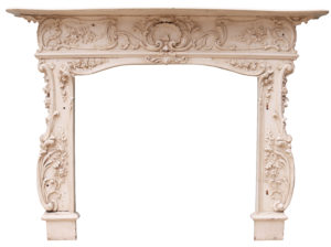An Antique Rococo Style Fireplace Surround