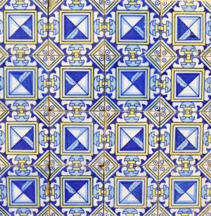 A Reclaimed Decorative Tile Panel
