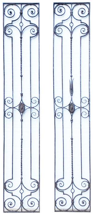 A Pair of Georgian Wrought Iron Panels
