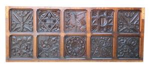 An Antique Jacobean Style Carved Oak Panel