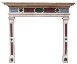 An English Renaissance Revival Fireplace with Porphyry Inlay