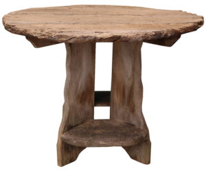 A Reclaimed Rustic Elm Garden Table