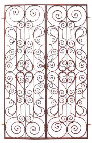 A Set of Antique Wrought Iron Pedestrian Gates