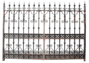 A Set of Reclaimed Wrought Iron Driveway Gates 10′ / (305 cm)