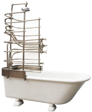 A Reclaimed Antique Canopy Bath and Shower