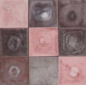 Reclaimed Shades of Purple and Pink Cement Floor or Wall Tiles 8.4 m2 (90 ft2)