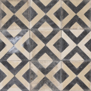 Reclaimed Geometric Encaustic Cement Floor or Wall Tiles 2.88 m2 (31 ft2)