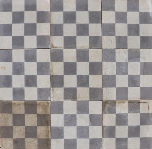 Reclaimed Light Grey 'Checker Board' Style Encaustic Floor Tiles 4.6 m2 (49 ft2)