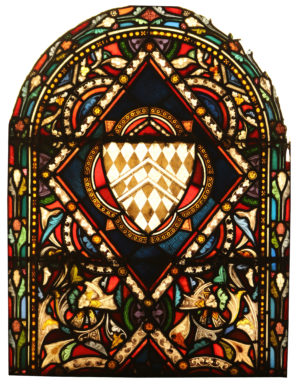 A Reclaimed Stained Glass Window Panel