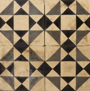 Reclaimed Patterned Encaustic Cement Floor or Wall Tiles 1.8 m2 (19 ft2)
