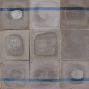 Reclaimed Shades of Blue and Grey Cement Floor Tiles 5 m2 ( 54 ft2)
