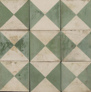 Reclaimed Patterned Encaustic Cement Floor or Wall Tiles 2 m2 (21 ft2)