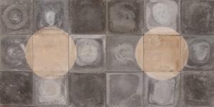 Reclaimed Black and White Circle Pattern Encaustic Tiles 5.8 m2 (62 ft2)