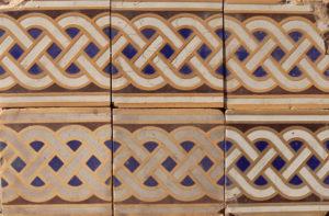 40 Reclaimed Minton Encaustic Floor Border Tiles