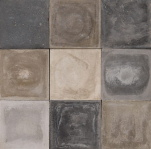 Reclaimed Cement Shades of Grey Floor or Wall Tiles 15.2 m2 (163 sq ft)