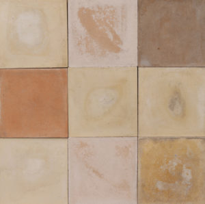 Reclaimed Cement Floor or Wall Tiles in Shades of Cream 13.6 m2 (146 sq ft)