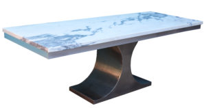 A Striking 1970s Marble Dining Table