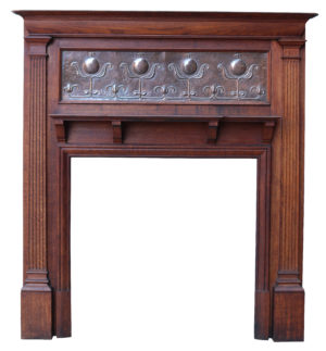 An English Art Nouveau Style Fireplace