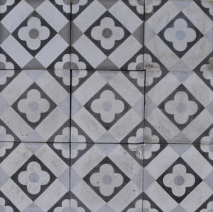 Reclaimed Patterned Encaustic Cement Floor Tiles 1.68 m2 (18 ft2)